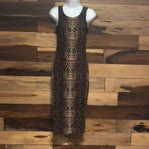 Dresses & Skirts - Animal print midi Dress